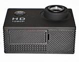 Туристическая Экшн камера Action Camera D600 Full HD для подводной съемки большой комплект креплений, фото 9