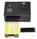 Туристическая Экшн камера Action Camera D600 Full HD для подводной съемки большой комплект креплений, фото 10