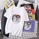 Біла жіноча футболка з мопсами, фото 5