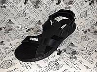 PUMA CHESS мужские кожаные сандалии босоножки чёрные