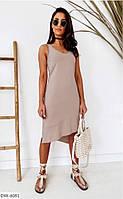 Асимметричное прогулочное платье майка в спортивном стиле на лето р-ры 42-48 арт. 182