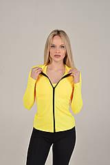 Спортивная желтая кофта для фитнеса NV Manx