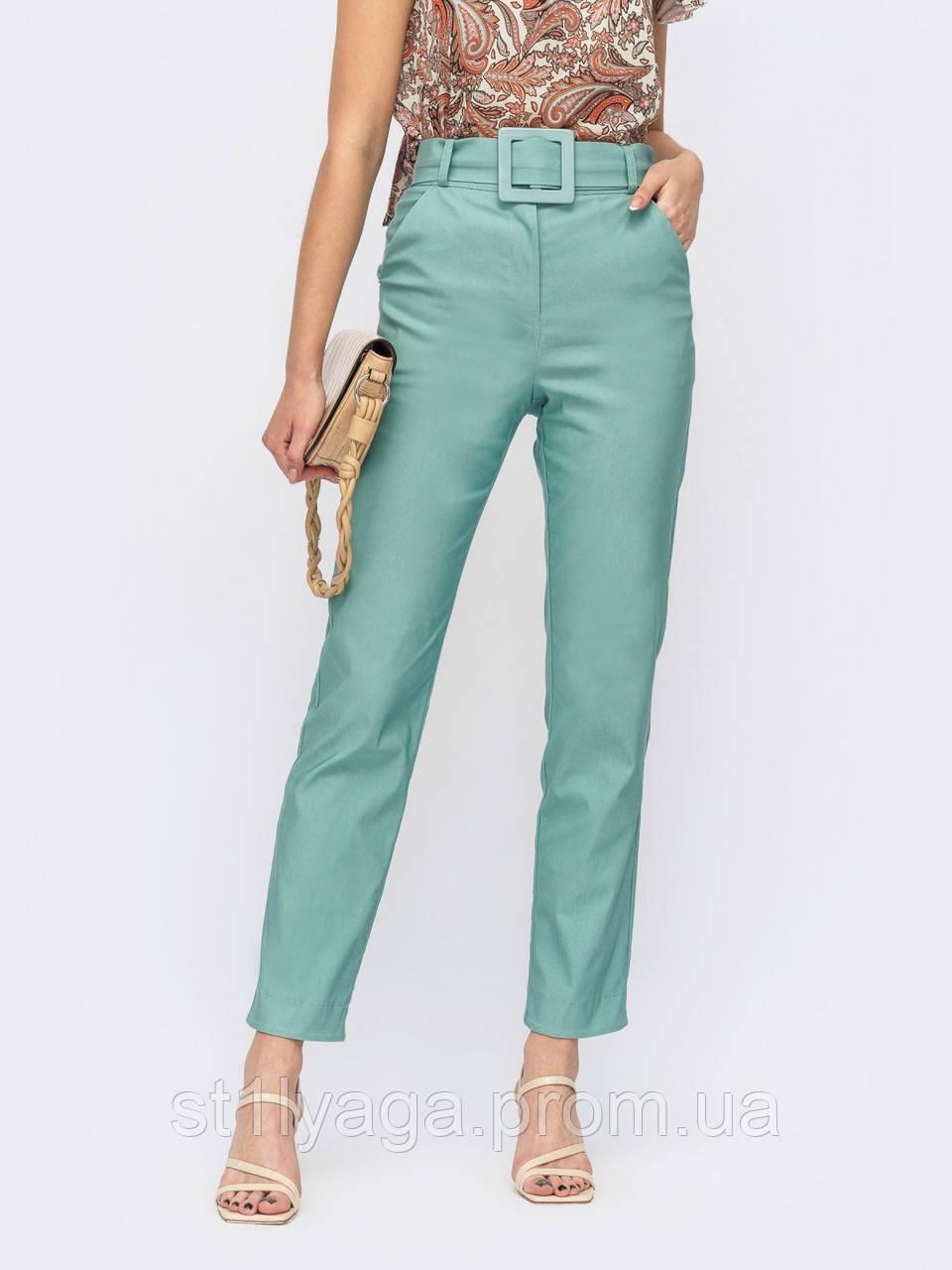 Жіночі брюки завужені з високою талією ЛІТО
