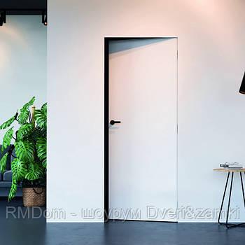 Міжкімнатні двері прихованого монтажу Omega модель A1 внутрішнього відкривання
