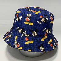 Панама двухсторонняя Mickey Mouse Серо-синяя 54