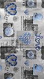 Наволочки из бязи Голд 50 х 70 Синие сердечки, фото 3