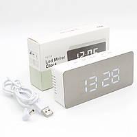 Часы электронные настольные для дома Led YQ-719 Цифровые светодиодные с лед будильником и термометром VST