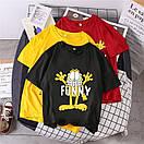 Чорна жіноча футболка Funny з котом, фото 2