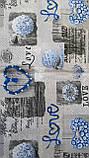 Пододеяльник из бязи Голд евроразмер Синие сердечки, фото 7