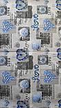 Пододеяльник из бязи Голд евроразмер Синие сердечки, фото 8