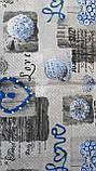 Пододеяльник из бязи Голд евроразмер Синие сердечки, фото 9