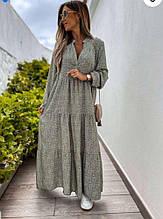 Женские платье софт оливковое SKL11-289954