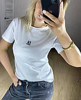 Модная женская брендовая футболка Fendi Фенди