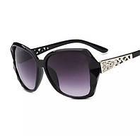 Очки солнцезащитные брендовые,Очкт модные солнцезащитные женские,Женские очки поляризационные черные