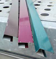 Торцевая верхняя планка, цвет синий, для забора из профнастила, 2 м, фото 2