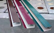 Торцевая верхняя планка, цвет шоколад, для забора из профнастила, 2 м, фото 3