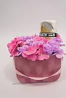 Декоративный подарочный SPA набор с цветами из мыльной пены