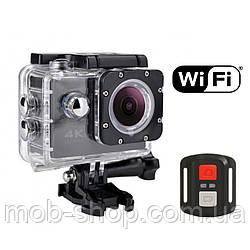 Спортивна Action Camera Екшн камера SJ7000R WiFi 4K великий набір кріплень + пульт (камера для плавання та відпочинку)