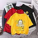 Жовта жіноча футболка Funny з котом, фото 2