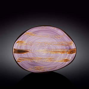 Блюдо камень Wilmax Scratch Lavander 33х24,5 WL-668742 / A