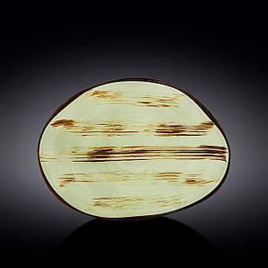 Блюдо камень Wilmax Scratch Pistachio 33х24,5 WL-668142 / A