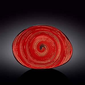 Блюдо камень Wilmax SPIRAL RED 33х24,5 WL-669242 / A