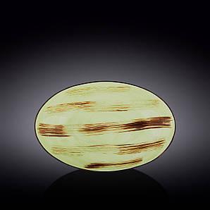 Блюдо овальное глубокое Wilmax Scratch Pistachio 30х19,5х7см WL-668141 / A