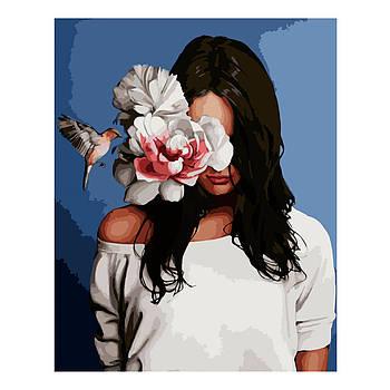 Картина по номерам Strateg Портрет с колибри, 40х50 см