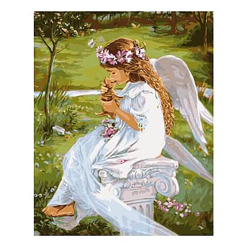 Картина по номерам Strateg Гармония ангела с природой, 40х50 см