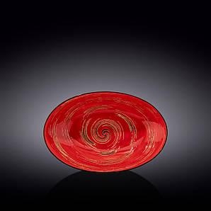 Блюдо овальное глубокое Wilmax SPIRAL RED 25х16,5х6см WL-669240 / A