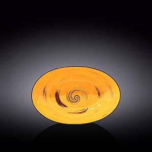 Блюдо овальное глубокое Wilmax SPIRAL YELLOW 25х16,5х6см WL-669440 / A