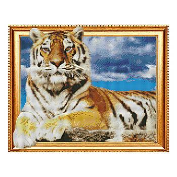 Алмазная мозаика Strateg «Гордый тигр», 40х50 см
