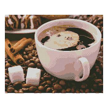 Алмазная мозаика Strateg «Сладкий кофе», 40х50 см