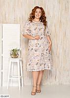 Женское легкое свободное летнее платье софт батал/большие размер 52, 54, 56, 58 р.
