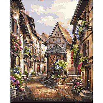 Картина по номерам Strateg , Европейское село 40х50 см