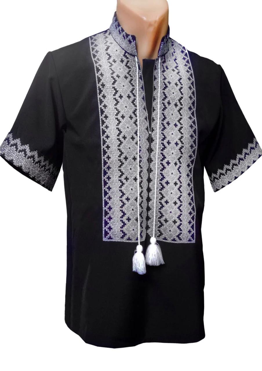 Мужская Рубашка Вышиванка с коротким рукавом р. 42 - 56