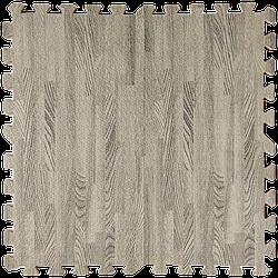 Мат татамі пазл ЕВА модульне покриття на підлогу EVA ластівчин хвіст складаний килимок 60х60х1 см сіре дерево