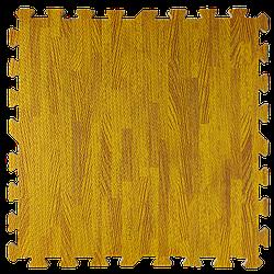 Мат татамі пазл ЕВА модульне покриття на підлогу EVA ластівчин хвіст складаний килимок 60х60х1 см бурштинове