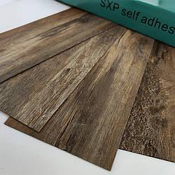 () Покриття на підлогу для стін гнучкий ламінат на клейовій основі вінілова плитка лінолеум під старовину