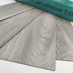() Покриття на підлогу для стін гнучкий ламінат на клейовій основі вінілова плитка лінолеум сіре дерево