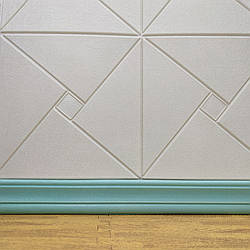 () Гнучкий м'який підлоговий плінтус багет з шаром клею бірюзовий