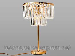Настольная лампа Hupfen с хрустальными подвесками 1026-T-G
