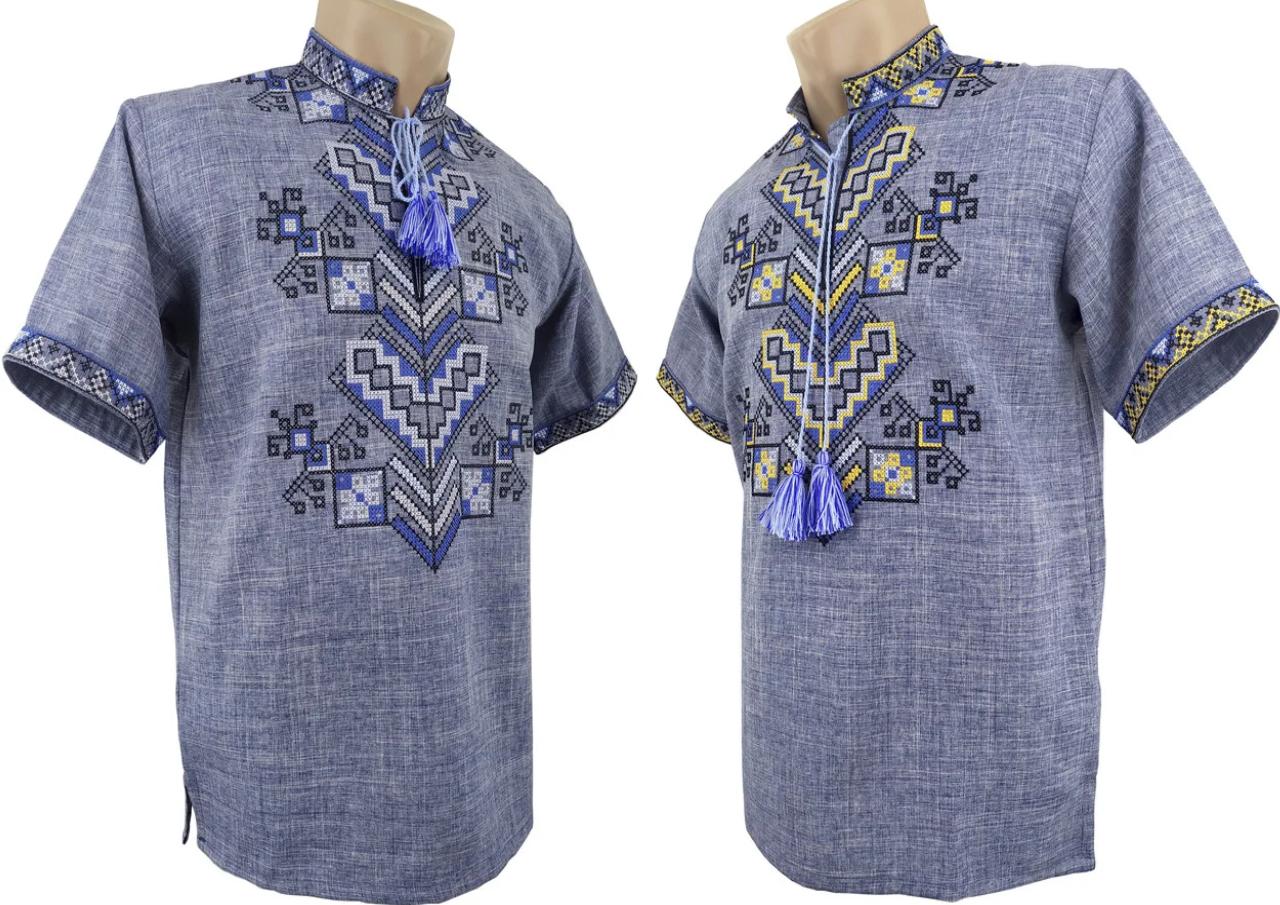 Летняя Рубашка Вышиванка мужская Family look р. 42 - 58