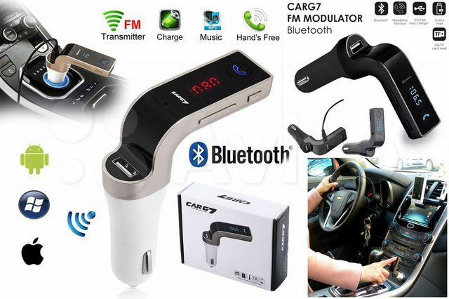 Автомобильный FM модулятор-трансмиттер G7 Original bluetooth + USB + microSD блютуз для всех авто
