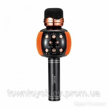 Мікрофон караоке M137 з колонкою (Orange)