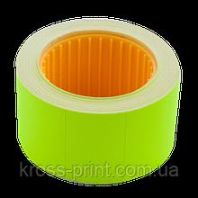 Цінник 30x20 мм (300 шт, 6 м), прямокутний, зовнішня намотування, зелений