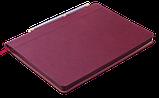 Блокнот ділової FRESH, А5, 96 л., точка, т.-червоний, позов.шкіра, фото 3