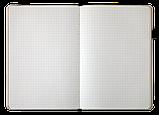 Блокнот ділової FRESH, А5, 96 л., точка, т.-червоний, позов.шкіра, фото 5