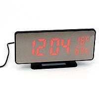 Настольные часы с Led подсветкой для дома VST-888Y Цифровые светодиодные с лед термометром и будильником
