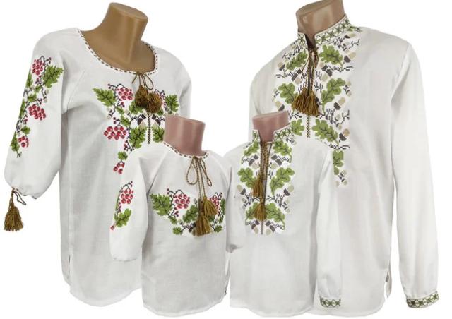 Рубашка Вышиванка для девочки домотканый хлопок р. 92 - 140